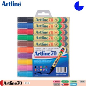 Artline 70/10W Permanent Marker 1.5mm Writing Width 10 Colours Per Set (EK-70/10W)