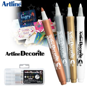 Artine Decorite Brush Marker Pen 4 Color Per Set EDF-F/4PSH1/2/3